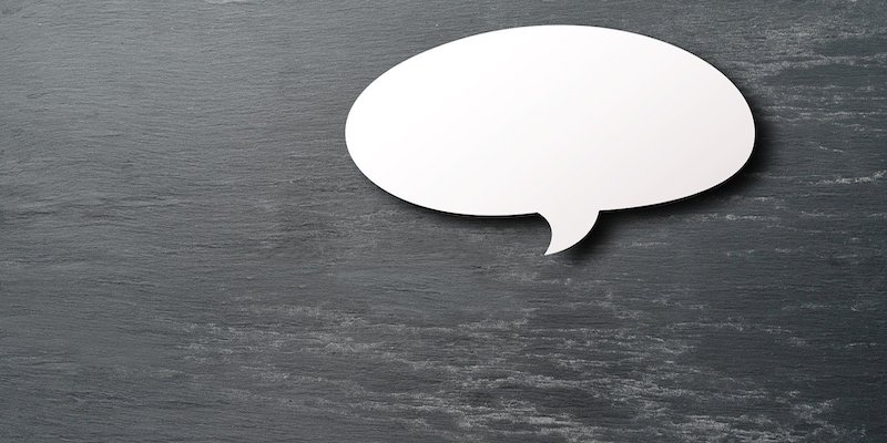 speech balloon on black background