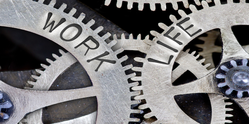 cogs to signify work life balance