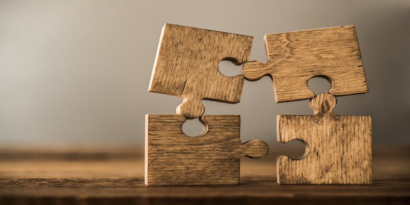 jigsaw pieces to signify teamwork
