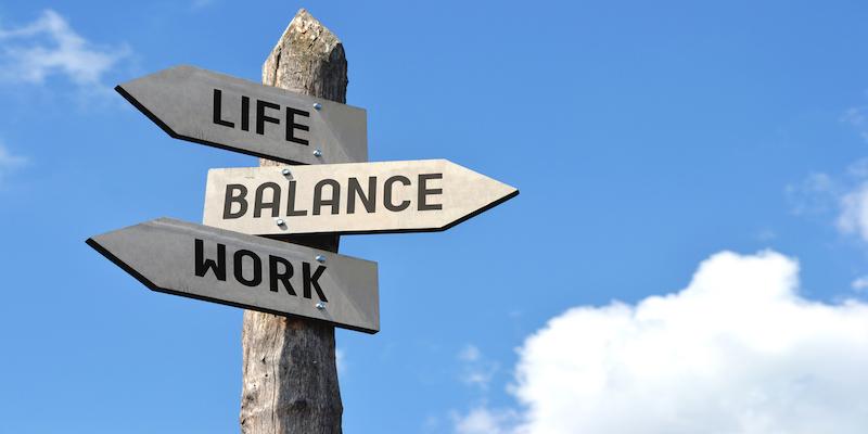 signpost showing work life balance